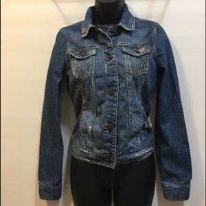 Hollister Small distressed destroyed jean jacket